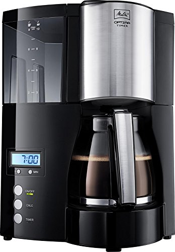 , Melitta 1008-01 Optima Timer Coffee Filter Machine – Black and stainless steel, Best Coffee Maker, Best Coffee Maker