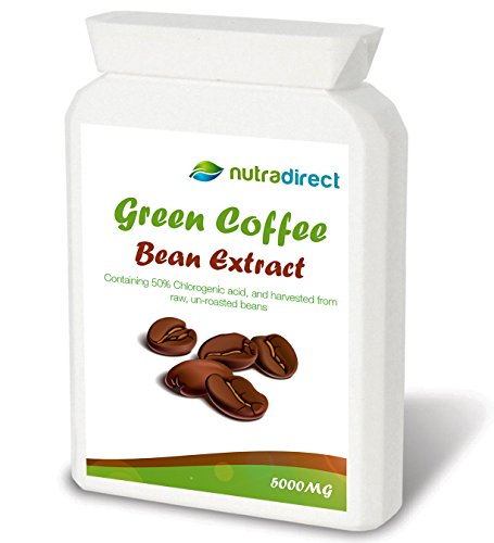 , Pure Green Coffee Bean Extract 5000mg (90 Vegetarian friendly capsules), Best Coffee Maker