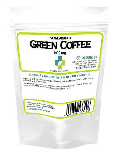 , Green Coffee 1000mg (12.5mg Chlorogenic Acid) / 60 Capsules, Best Coffee Maker