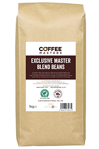 , Coffee Masters Exclusive Master Blend of 100% Arabica Espresso Coffee Beans 1kg, Best Coffee Maker, Best Coffee Maker