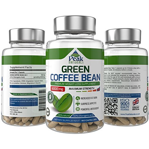 , #1 Strongest and Most Effective Green Coffee Bean For Weight Loss ★ 6000mg Maximum Strength Pure Green Coffee Bean Extract with GCA ★ 50% Chlorogenic Acid ★ Full 30 Day Supply ★ Lose Weight Fast ★ Proudly Made in the UK ★ 100% Money Back Guarantee ★ Free Bonus Book To Help You Stay Slim, Happy and Healthy Forever! ★ Don't Buy Green Coffee Bean Without Reading This Guide!, Best Coffee Maker, Best Coffee Maker