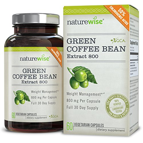 , NatureWise Green Coffee Bean Extract 800 Fat Burner with GCA, 1600 mg Per Daily Serving, THE Highest Available on the Market, Best Coffee Maker, Best Coffee Maker