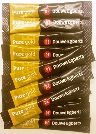50 x Douwe Egberts Pure Gold 1 Cup Coffee Sachets