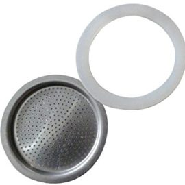 Andrew James Spare Filter and Silicone Gasket For A 6 Cup Size Stove Top Espresso Coffee Percolators And Moka Pots