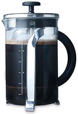 Attractive Large Nairobi Cafetiere Made Of Chrome With 6 Cup/800ml Capacity