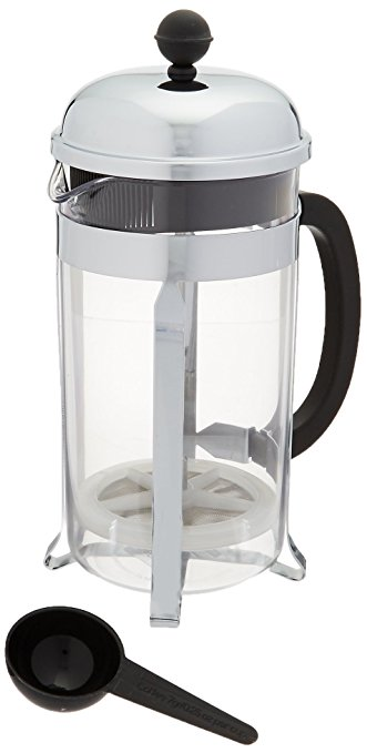 Bodum Chambord 8 Cup Shatterproof French Press Coffeemaker, 1.0 L, 34-Ounce bodum chambord 8 cup shatterproof french press coffeemaker 1 0 l 34 ounce