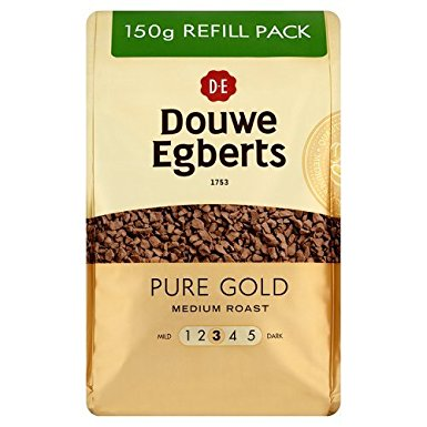 Douwe Egberts Pure Gold Instant Coffee Refill 150 g (Pack of 3) douwe egberts pure gold instant coffee refill 150 g pack of 3