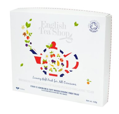 English Tea Shop Organic Luxury Gift Tray (Pack of 96 Tea Bags)