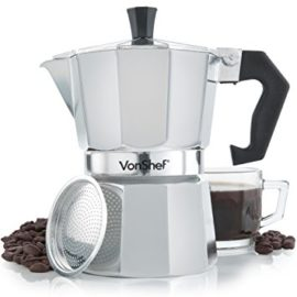 Italian Espresso Stove Top Coffee Maker Pot 3 Cup Black