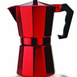 Italian Espresso Stove Top Coffee Maker Pot 6 Cup red