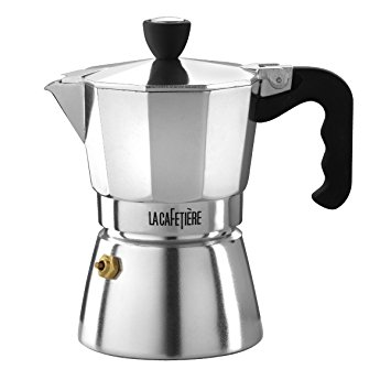 La Cafetiere 3-Cup Classic Espresso Coffee Maker Percolator, Black