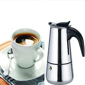 linaatales Stainless Steel Espresso Latte Mocha Coffee Pot Percolator Stove Top Coffee Maker