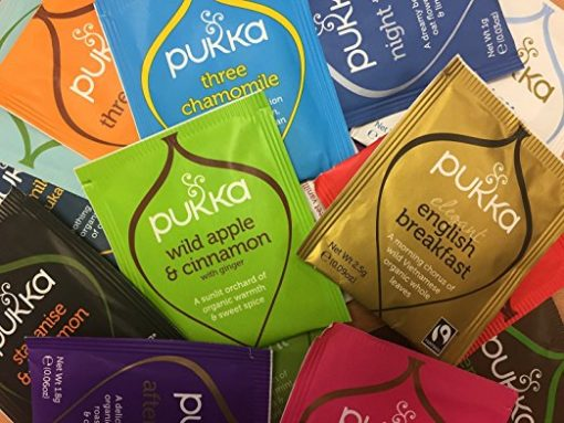 Pukka Herbal Organic Tea Sachets – Selection of 37 Sachets (1 Sachet of Each Variety) Packed in Beautiful Metal Tea Storage Tin Caddies – Perfect As A Sample Taster Pack