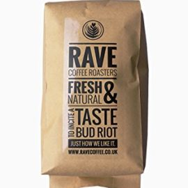 Rave Coffee – Sparkling Water Blend Decaffeinated – Fresh Roasted Coffee Beans – 1kg – Whole Bean