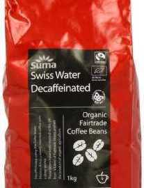 Suma Fairtrade Organic Swiss Water Decaffeinated Coffee Beans 1 kg