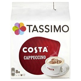TASSIMO Costa Cappuccino coffee 16 discs, 8 servings (Pack of 5, Total 80 discs/pods, 40 servings) tassimo costa cappuccino coffee 16 discs 8 servings pack of 5 total 80 discspods 40 servings 270x270