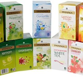 Twinings Herbal Infusion Tea Bags Variety Pack (Pack of 12, total 240 tea bags)