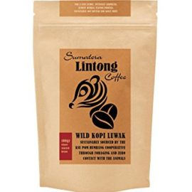 Wild Kopi Luwak, the World's Most Exclusive Coffee, Sustainably Sourced From Sumatra, Indonesia (Whole Bean, 100gr)