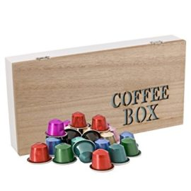 Wooden Nespresso Coffee Capsule Pod Holder Retro Box – Choice of 4 Styles