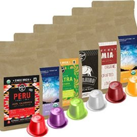 100% USDA Certified Organic Coffee – Nespresso Compatible Capsules – Artizan Coffee Sample (Sample Pack – 60 Pods)