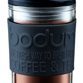 Bodum Travel Press Set Coffee Maker with Extra Lid, 0.35 L/12 oz
