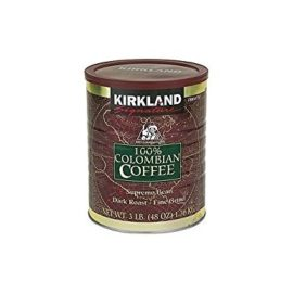 Kirkland Signature – 100% Colombian Filter Coffee Supremo Bean Dark Roast Fine Grind 1.36kg