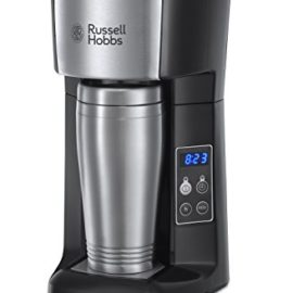 Russell Hobbs Brew and Go Coffee Machine and Mug 22630, 400 ml – Stainless Steel and Silver