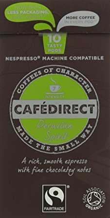 Cafédirect Organic Fairtrade Nespresso Compatible Coffee Capsules Machu Picchu (Pack of 5, Total 50) cafedirect organic fairtrade nespresso compatible coffee capsules machu picchu pack of 5 total 50