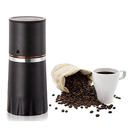 , TDH Manual Coffee Grinder Filter Cup Coffee Brewer, Portable Coffee Maker, All-in-One Coffee Machine Cup for Travel Home Gift (Black-2), Best Coffee Maker, Best Coffee Maker