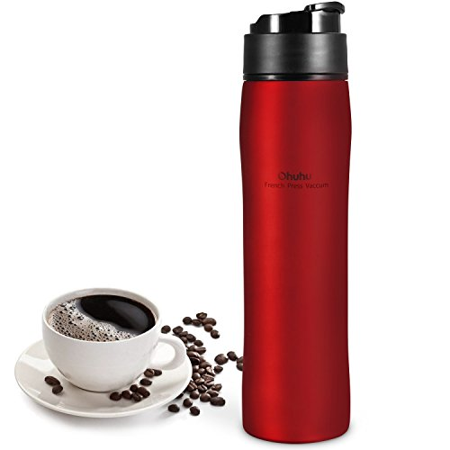 , Ohuhu French Press Coffee Maker for Ground Coffee, Portable Coffee & Tea Maker, Travel Coffee Press Coffee Mug, Best Coffee Maker, Best Coffee Maker