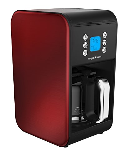 , Morphy Richards Pour Over Filter Coffee Maker 162009 Red Coffeemaker, Best Coffee Maker, Best Coffee Maker
