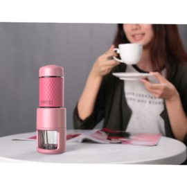 [Reddot award] TopBrandBOX Staresso Manual Coffee Maker Machines with Espresso Cappuccino Quick Cold Brew All in One Travel-SP-200 (SP-200, Pink)